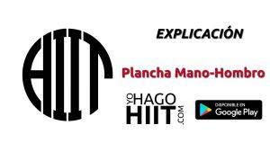 Plancha Mano Hombro